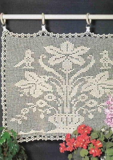 rideaux fleurs et oiseaux