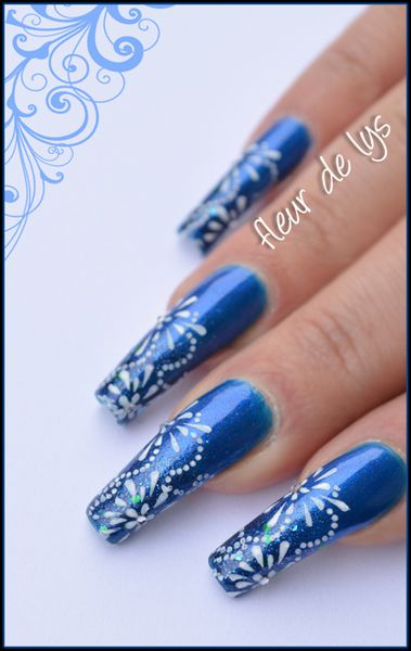 Nail Art Feux d'Artifice