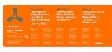 Flyer Cream Nation 28 mai 2005 verso