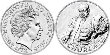 angleterre 2015 20£ pour 20£ churchill