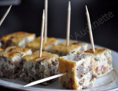 cube quiche steack