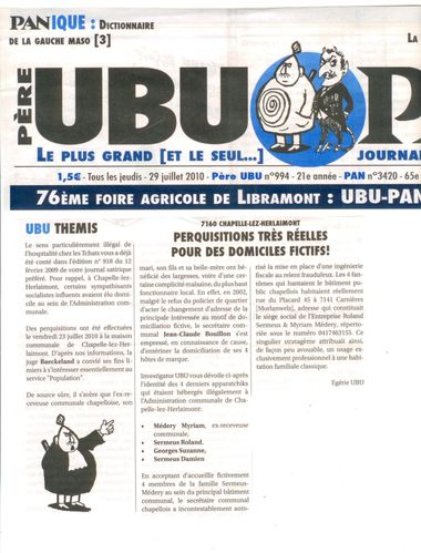 pere ubu 994 - 20100729 - ubu themis - perquisitions pour d