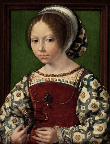 7 -- 1530 Jan Gossart Jeune princesse Dorothea de Danemark