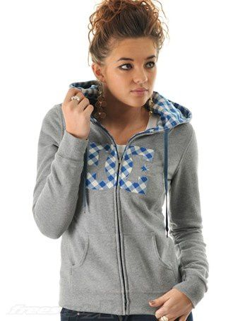 DC-Heather-Frost-Grey-Papago-Womens-Zip-Hoody-190f3-L
