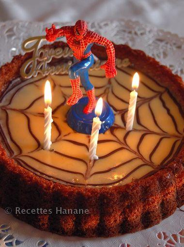 gâteau d'anniversaire spiderman - recetteshanane