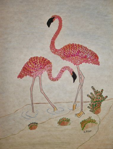 Couple de Flamants roses 2