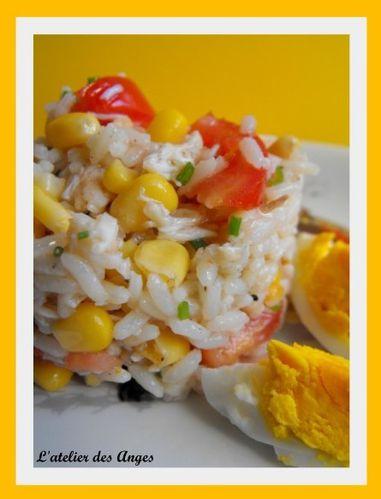 Salade riz crabe maïs 2