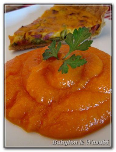 Purée de carottes aux agrumes