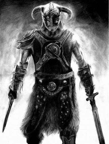 skyrim pencil drawing by keshavsart-d50wnni