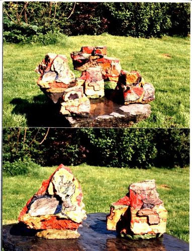 Pierres dans le jardin