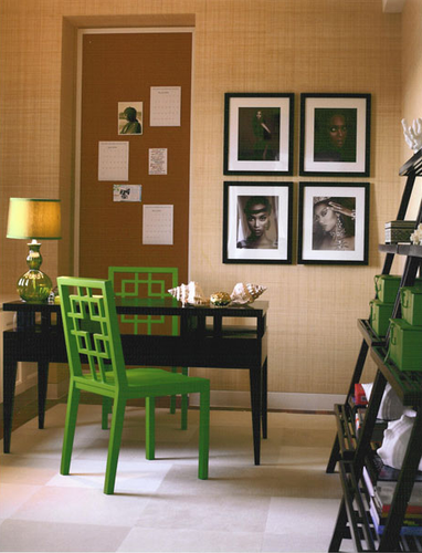 A PART CA GREEN CHAIR MIX AND CHIC ELAINE GRIFFIN