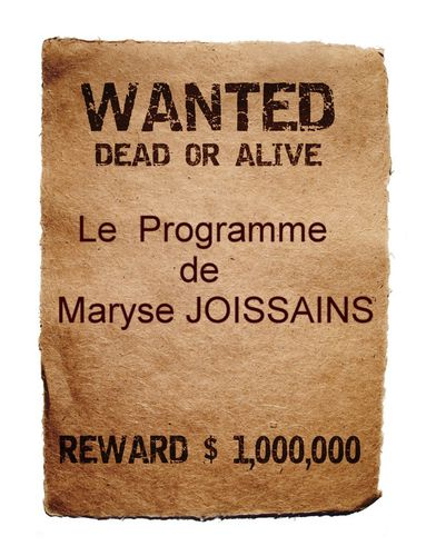 Wanted programme Joissains