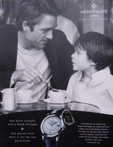 Pub Montre-Patek-Philippe-La-transmission-LeMonde2007