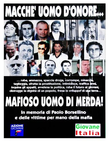 607j1 Catane, affiche anti mafia