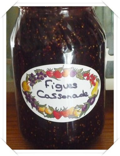 confiture de figues cassonade