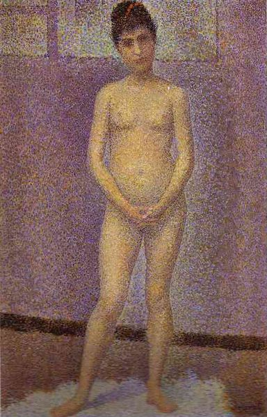 Seurat, Standing Model (study for Les Poseuses) 1888