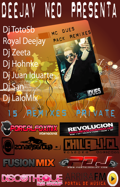 Portada Pack Mc Dues Remixes con djs