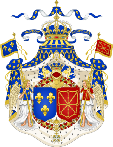 463px-Grand Royal Coat of Arms of France & Navarre svg