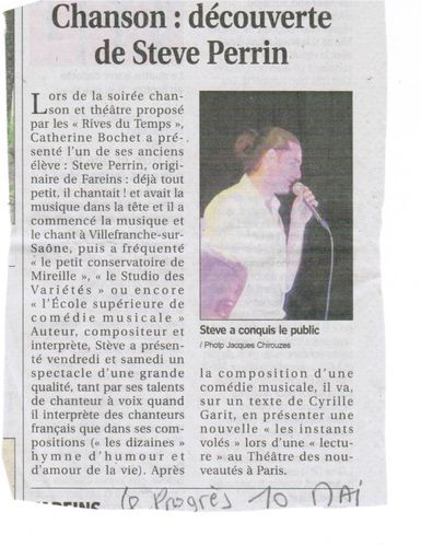 Stève Perrin article Progrès