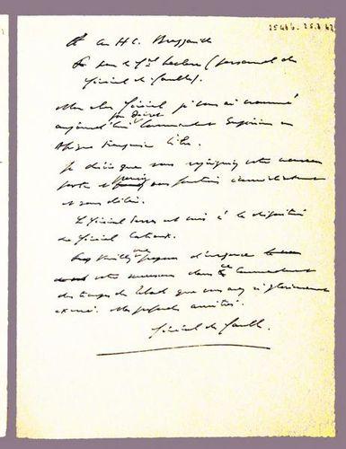 787b5 message du Général de Gaulle à Leclerc, 25 mars 19