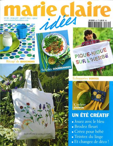 MARIE CLAIRE IDEES COVER JUILLET AOUT 2011