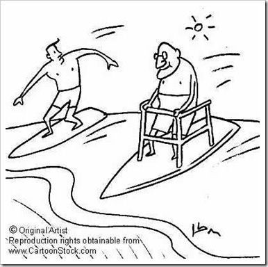 baby boomer surfer cartoon