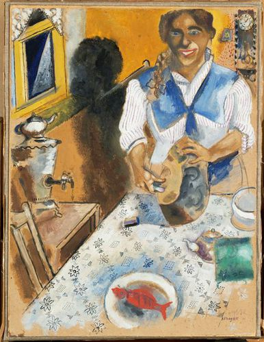 Chagall-mania-cutting-bread-1914