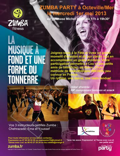 Flyer Zumba party