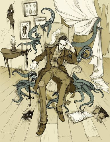 H P Lovecraft by MirrorCradle
