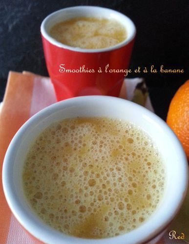 smoothies à l'orange et à la banane