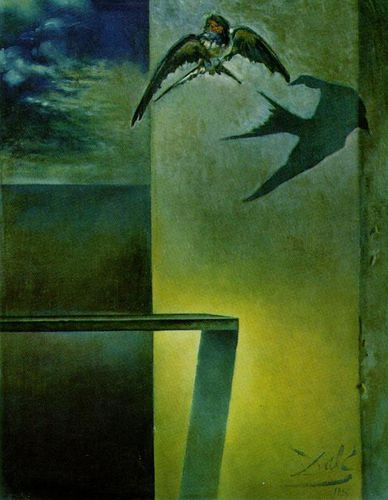 Salvador Dali -1956 11 The Motionless Swallow. Study for 'S