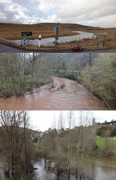 crues bassin du Lot 30-03 et 3 et 10-04-13