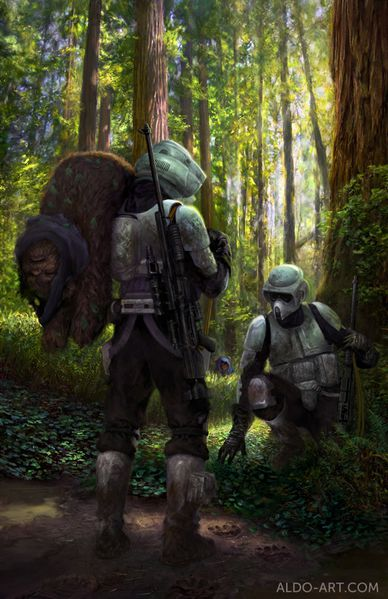 ewok hunt star wars by notgf3-d5u0s5r