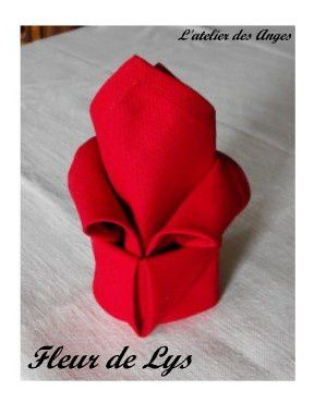 Pliage serviette deco de table l 39 atelier des anges - Pliage serviette facile et rapide ...