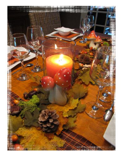 Table aux couleurs de l 39 automne le scrap co de chris for Centre de table automne