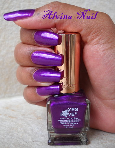 cosmetoo nails yes love violet 2, Alvina-Nail