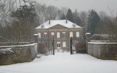 Le Château d'Arreux sous la neige