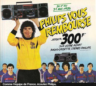 pub-1986-equipe-de-france-football-Philips.jpg