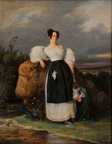 Duval Le Camus Comtesse de Bizemont c1835 coll part