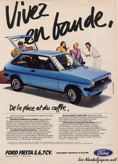 pub d 39 autrefois 1979 ford fiesta vivez en bande. Black Bedroom Furniture Sets. Home Design Ideas