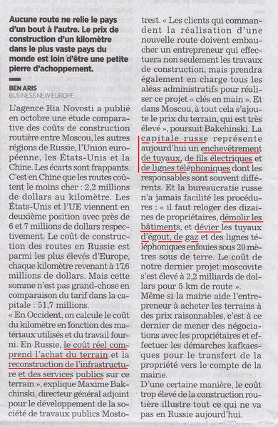 routes Russie - Figaro 20 oct 2010 1