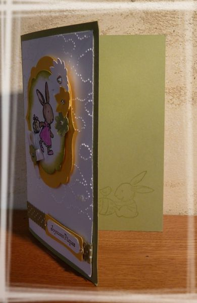 carte mes lapins stampin up 2