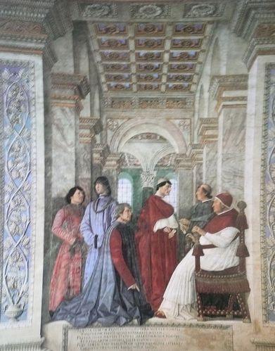 Melozzo da Forli Inauguration de la bibliothèque de Sixte