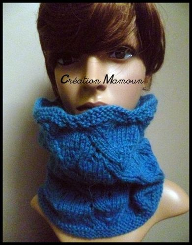 snood bleu canard