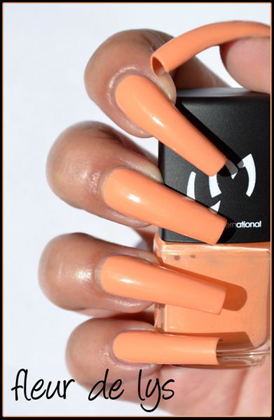 Vernis ongles abricot