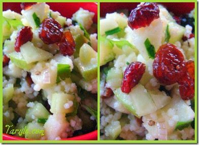 salade canneberges