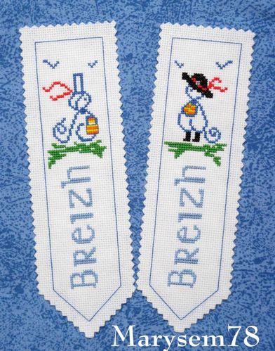 marque-page - bretonne et breton (mamigoz)