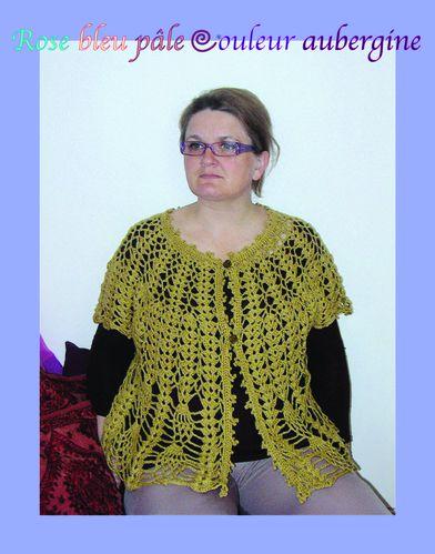 gilet motif ananas 1