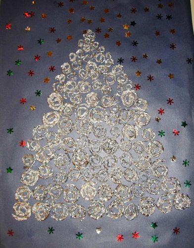 Des spirales chez cathie for Decoration porte ecole noel