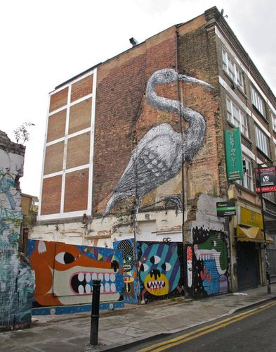Londres Hanbury street-art Roa hron 8